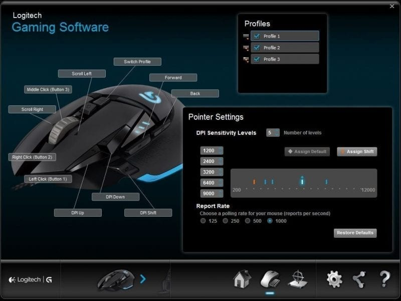 logitech g502 software