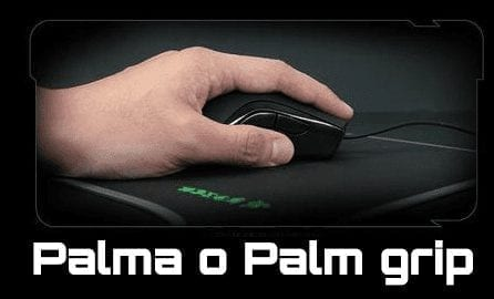 Palma o pal grip en ratón gamer