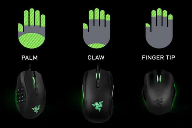 Tipos de agarre para Mouse gamer