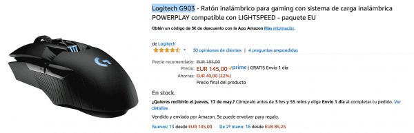 raton logitech usado