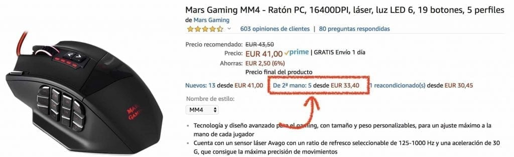 mars gaming mm4 segunda mano