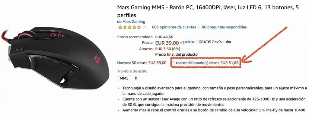 mars gaming mm5 segunda mano