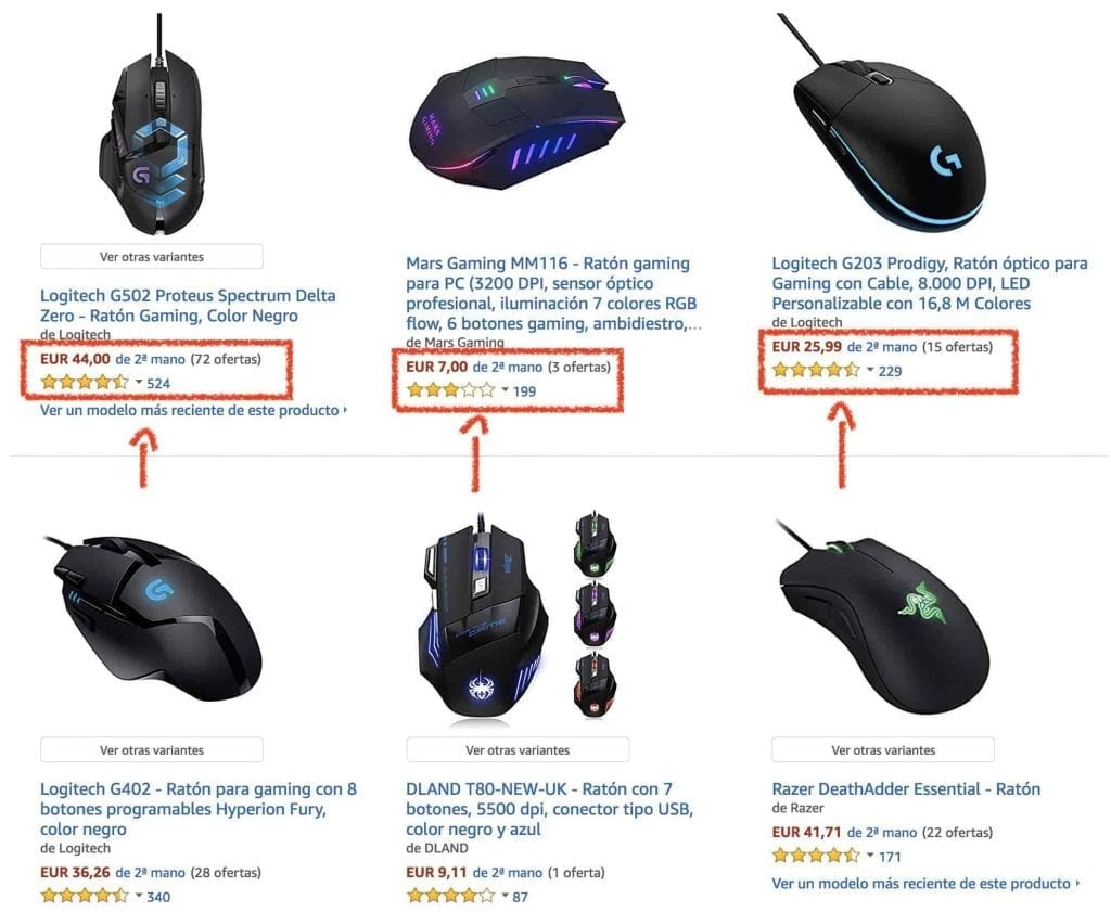mouse gamer usado