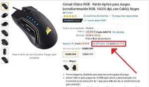 Corsair Glaive RGB segunda mano