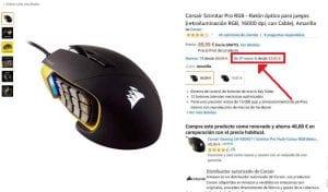 Corsair Scimitar Pro RGB segunda mano